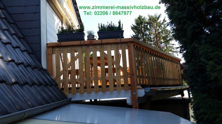 Wieder individuellen Holzbalkon aus Lärche und Douglasie in Köln aufgebaut.  http://www.zimmerei-massivholzbau.de/holzbalkone.html