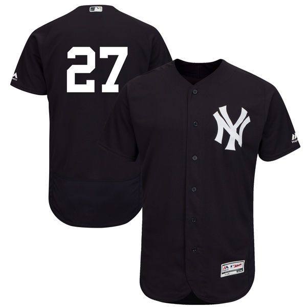 Mens #27 Giancarlo Stanton New York Yankees Cool Base Player Jersey White