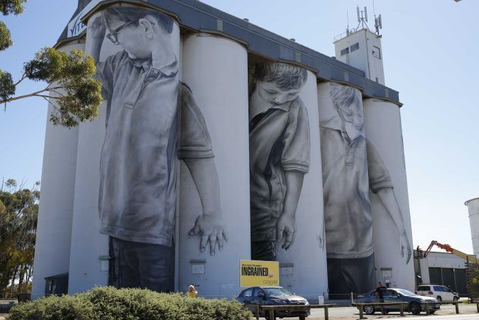 The finished Coonalpyn silos South Australia   by Guido Van Heltin