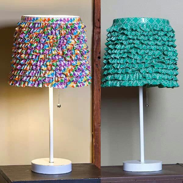 Duct tape lamp shades