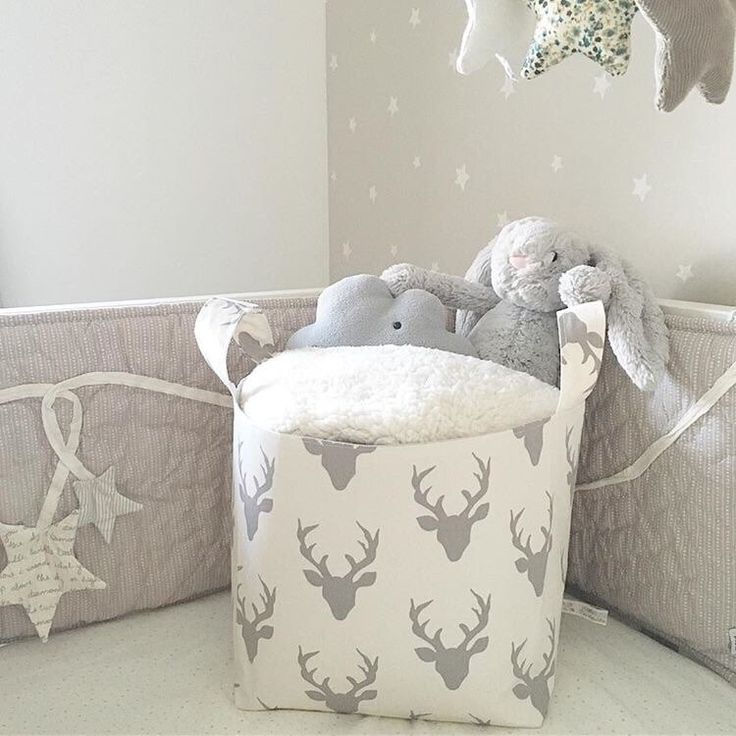A personal favourite from my Etsy shop https://www.etsy.com/uk/listing/228117454/stag-fabric-baskets-hello-bear-choice-of