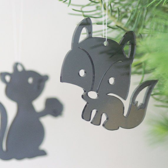 New colour! 3 Critters in black transparent plexiglas / perspex by Spagat, $14.00