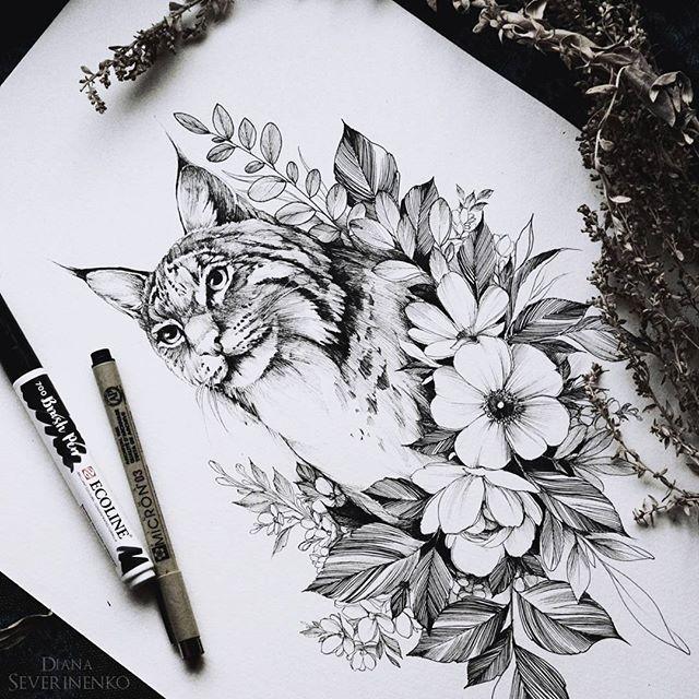 #lynx #sketch #artmagazine #artwork #artgalery # ...