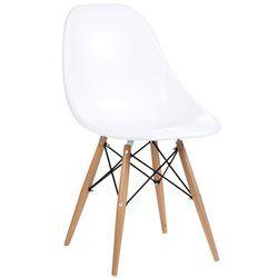 Chaise ABS Design Blanche et Pieds en Bois