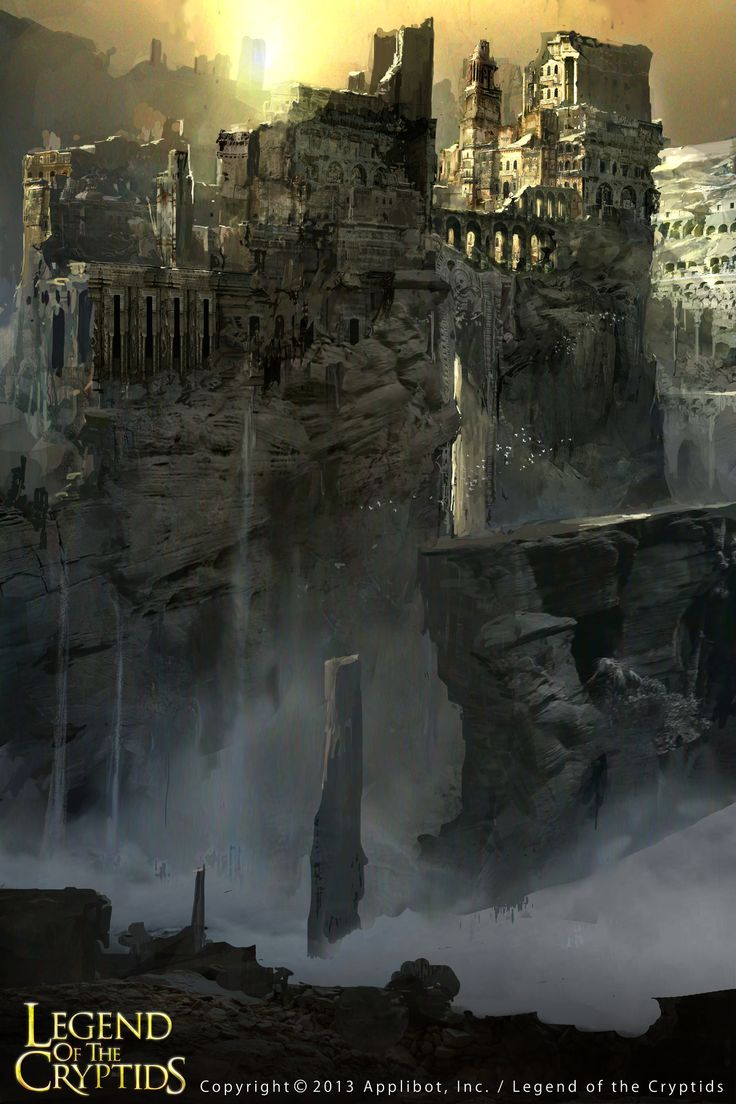 Artist: Leetai Kim aka On Sak - Title: Ancient City - Card: Unknown