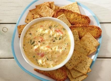 Four-cheese crab dip