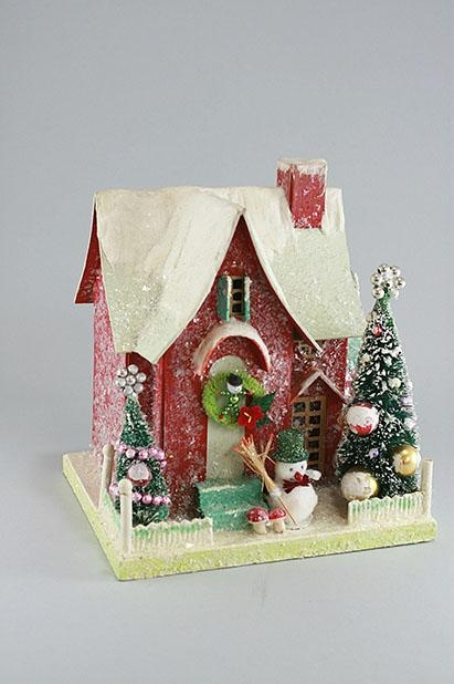 Red Putz Christmas House