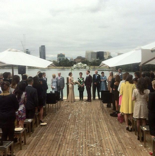 Ceremony on the deck, rose petals & white umbrellas thepointalbertpark #thepointalbertparkweddings #wedding #brideandgroom #weddinginspo #weddingideas #weddingvenue #melbournevenues #melbournefunctions #melbournewedding #newlyweds #receptionvenue #ceremony #weddingceremony #ceremonyvenue #happycouple #vows
