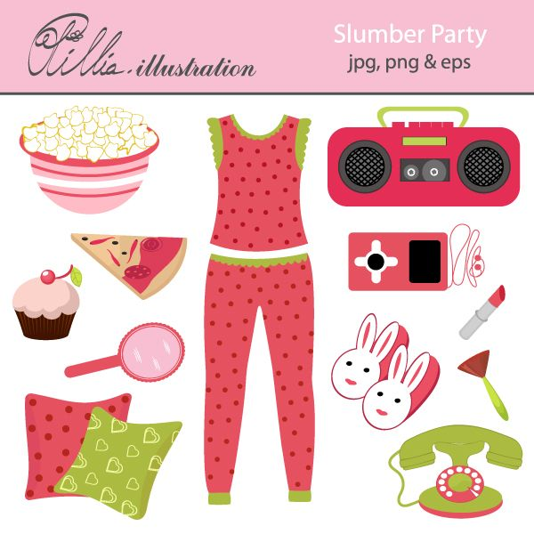 Slumber Party Mygrafico Slumber Party Printable Kids