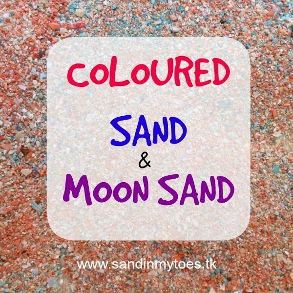 Here's how you can make Coloured Sand and Moon Sand, and make your little one happy for quite some time! #sensoryplay #toddleractivities #sandplay