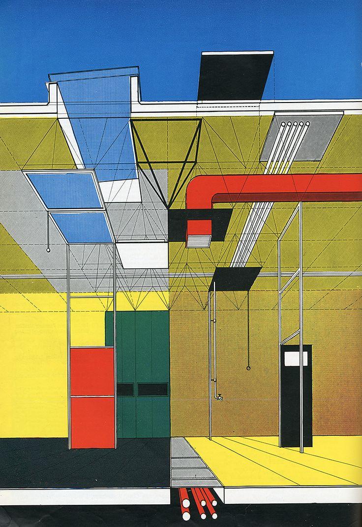 Gordon Cullen. Architectural Review v.118 n.707 Nov 1955: 284 | RNDRD