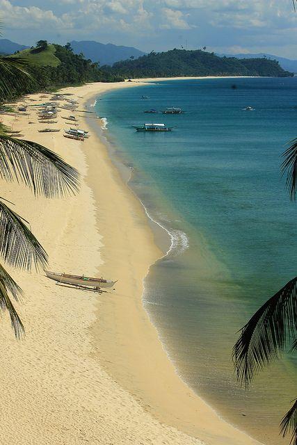 Irawan & Nagtulay Beach, San Vicente, Palawan, Philippines.