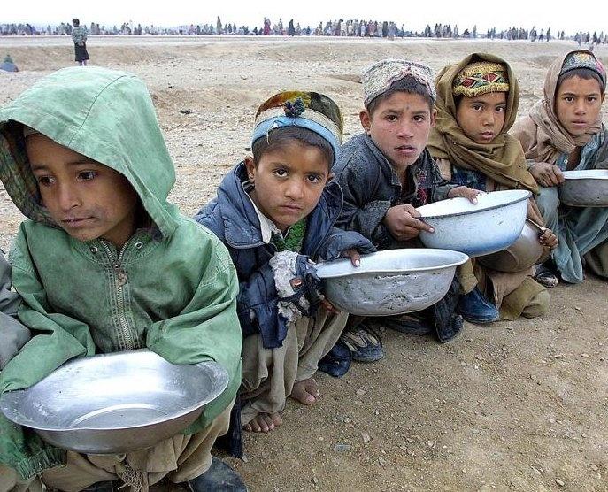 Afghan refugee camp.