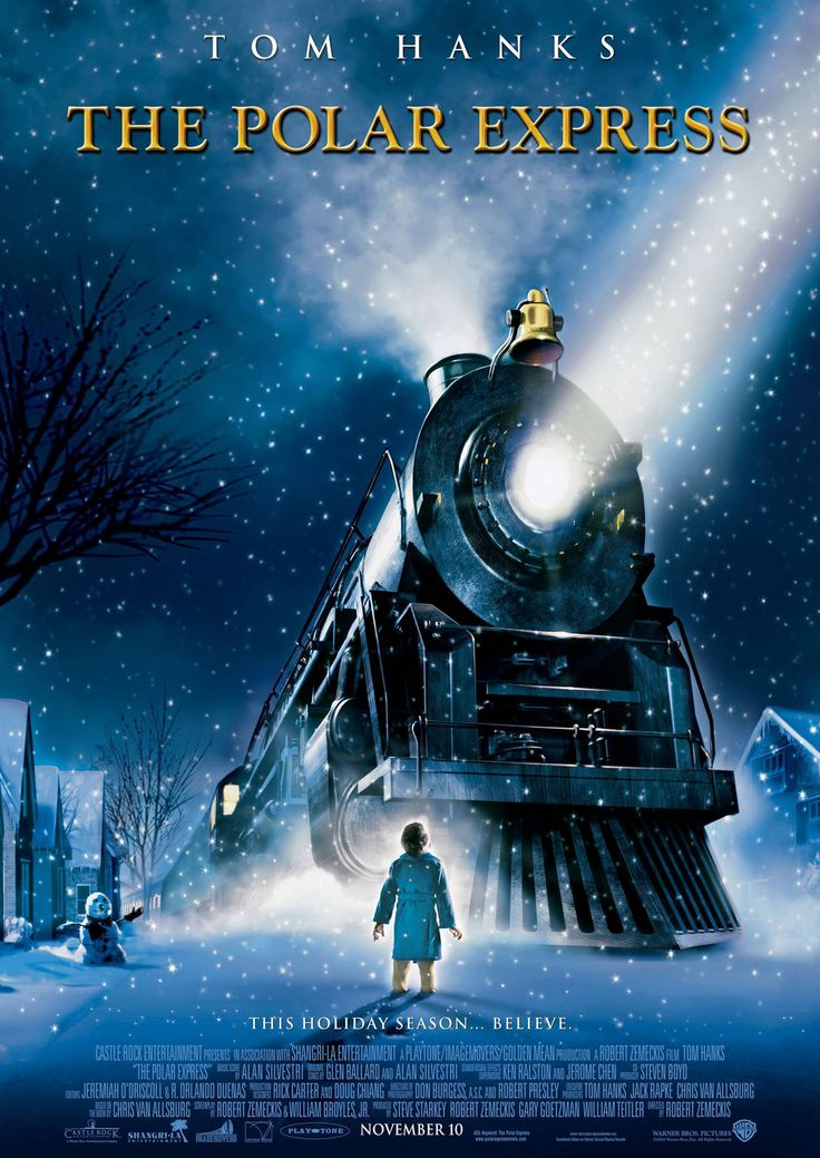 """The Polar Express"" movie poster, 2004."