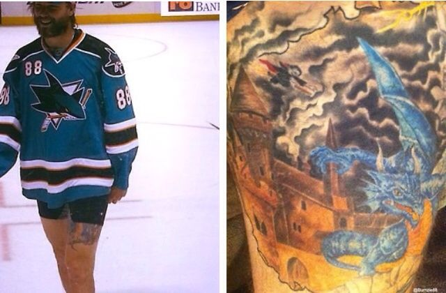 if u guys wanna know a cool fact about brent burns, he has a Harry Potter tattoo