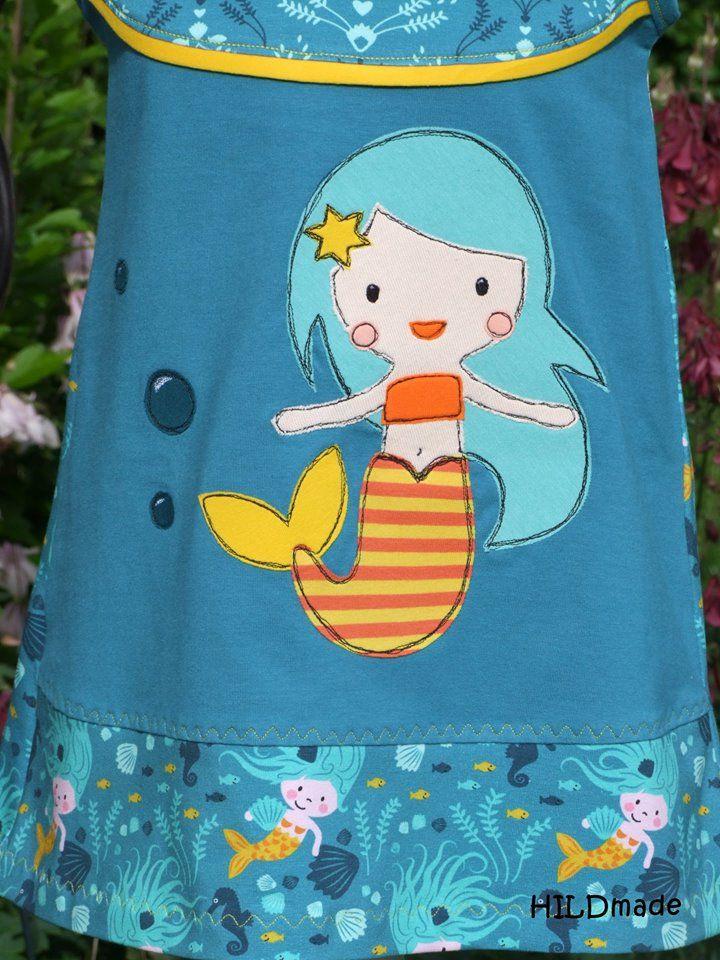 Applikationsvorlage Undine, die kleine Meerjungfrau | Designbeispiel »HILDmade« | Shop: http://de.dawanda.com/product/101649843-applikation-meerjungfrau-undine-vorlageanleitung| https://www.makerist.de/patterns/applikation-meerjungfrau-undine-vorlage-anleitung