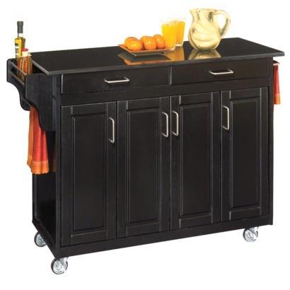 Kitchen Cart With Black Granite Top Black Granite