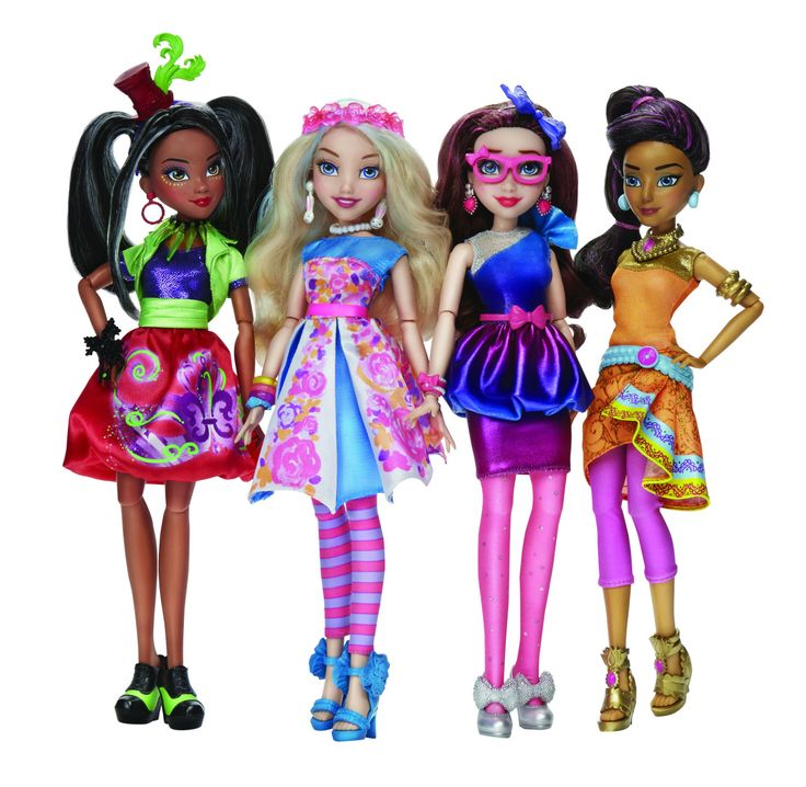Freddie, Ally, Unidentified Character and Jordan Neon Lights Disney Descendants Dolls by Hasbro (Coming in 2016)