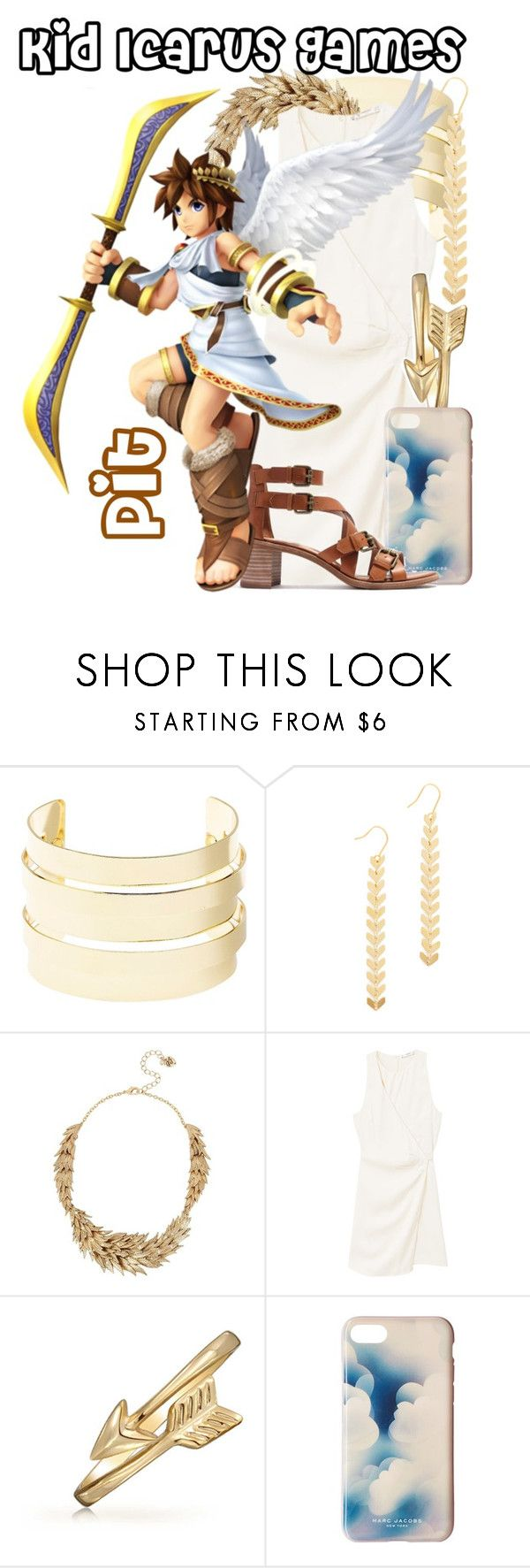 """Pit from the Kid Icarus Games (Dressed Down)"" by imanirine ❤ liked on Polyvore featuring Charlotte Russe, Cloverpost, Betsey Johnson, MANGO, Bling Jewelry, Marc Jacobs, Madewell and Nintendo"
