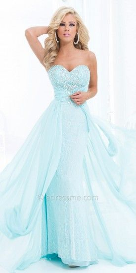 Sweetheart Lace and Chiffon Elegant Evening Dresses by Tony Bowls Le Gala-image