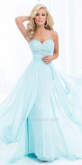 Sweetheart Lace and Chiffon Elegant Evening Dresses by Tony Bowls Le Gala-image