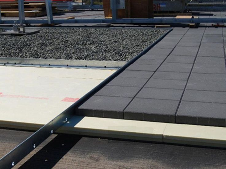 Flat Concrete Roof Insulation - Extruded Polystyrene is placed directly over the waterproof membrane, providing protection to the membrane plus exceptional insulation - Concrete Roof Insulation.