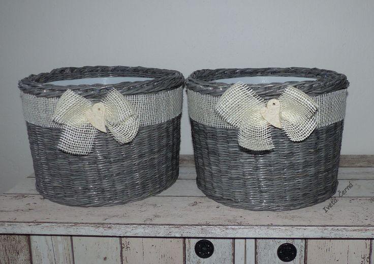 obal na květináč....pletení z papíru