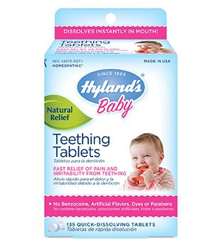Something sounds good – even to your fussy, teething baby. It's the shake-shake of a Hyland's Baby Teething Tablets bottle. These tablets have rocked the charts by being the #1 infant oral pain reliever in America!♩ They make nights bearable, days livable, and truly make the teething years way more groovy. Easy to use, no mess, no fuss – Hyland's Baby Teething Tablets have perfect timing, right there whenever you need them. ♩AC Nielsen, Oral Pain – Baby at US xAOC, 52 weeks ending 4/12/2014