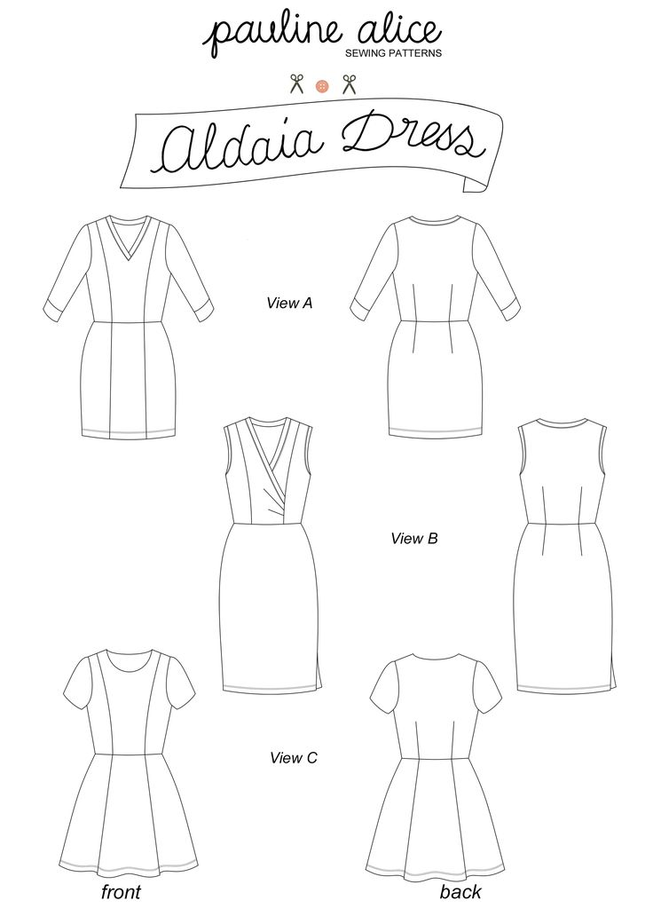 Pauline Alice | Aldaia dress | one pattern, 27 different dress options! uses knit fabrics