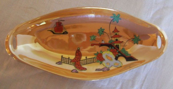 Vintage Noritake Oblong Scenic Hand Painted Lustreware Celery Dish 1921-1940 & 25+ best Celery Dishes images by Teresa R on Pinterest | Celery ...