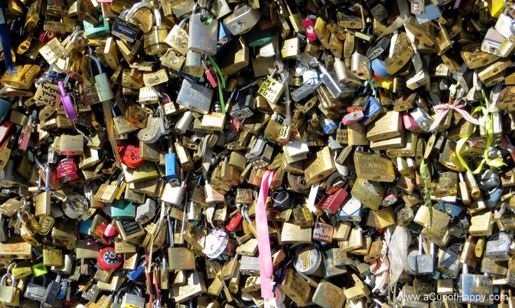 Padlocks of Love in Paris