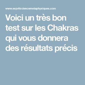 Voici un très bon test sur les Chakras qui vous donnera des résultats précis