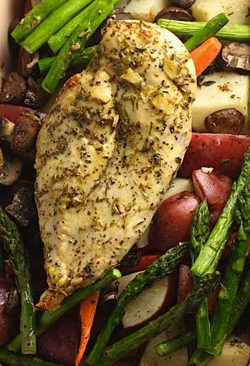 East Herb Roasted Chicken and Vegetables