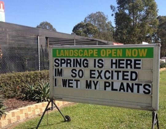 The Excitable Garden Centre. | 47 Signs You'll Only See In Australia