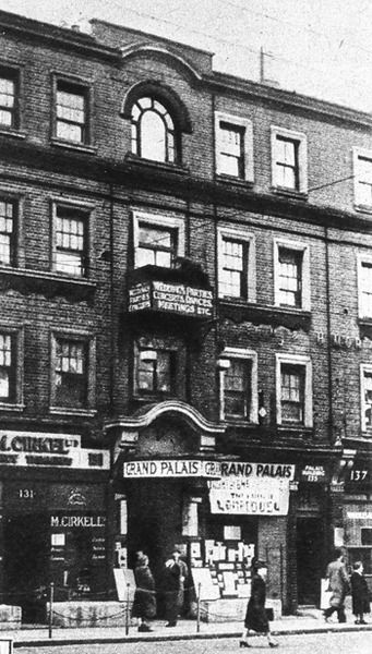 Grand Palais, Yiddish theatre, Commercial Road, Whitechapel, 1926