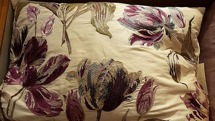 Purple floral cushion by Laura Ashley