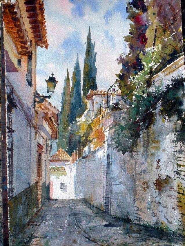 Geoffrey+Wynne+acuarela+paso+a+paso+calle+Albayzín+Granada+step+by+step+watercolour+Albayzin+street+Grenade+3.jpg (638×850)                                                                                                                                                                                 Más