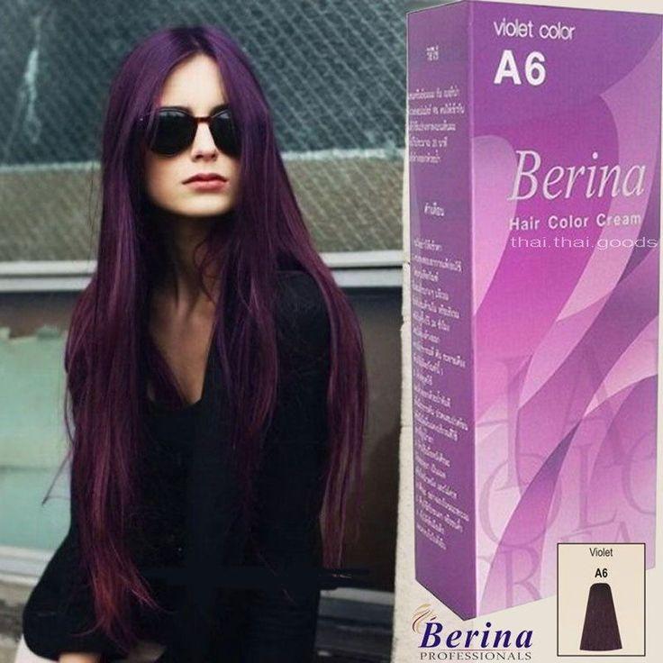 Berina A6 Purple Violet Permanent Hair Dye Color Cream Unisex Fashion Classic ++ | eBay