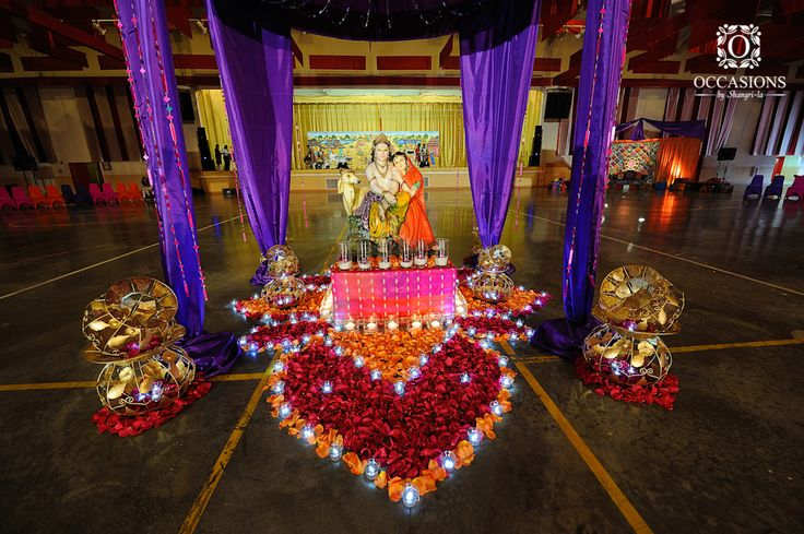 Sangeet garba mehndi decor occasions by shangri la for Arangetram stage decoration ideas