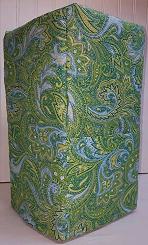 Green Blue Paisley Bread Machine Cover (All Paisley)