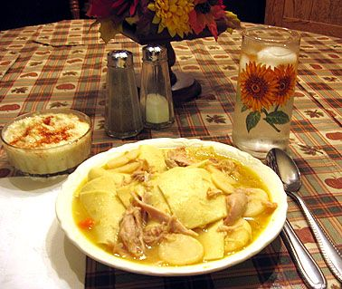 Chicken Pot Pie or Chicken & Dumplings - Pennsylvania Dutch Style - Home Cooking