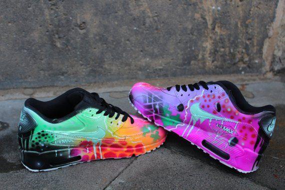 Custom Nike Air Max 90 Funky Galaxy Colours Graffiti