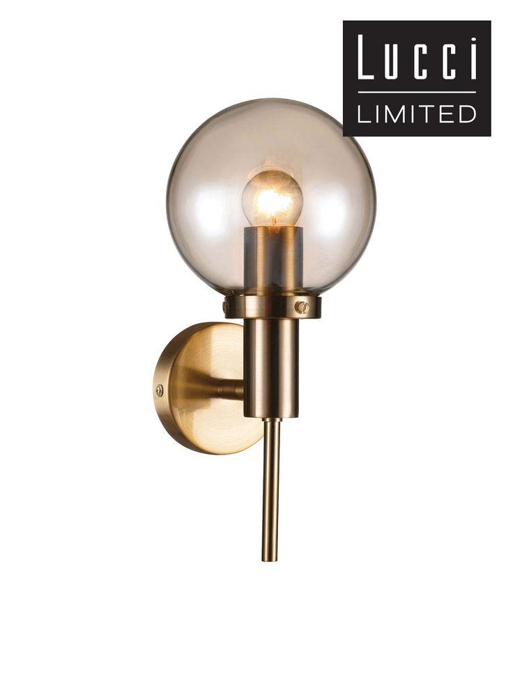 Santiso 1 Light Wall Bracket in Brushed Brass/Amber