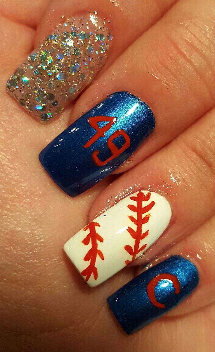 31 mejores imágenes de Baseball Nail Art en Pinterest | Arte de uñas ...