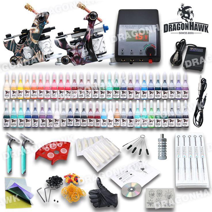 Popular Beginner Tattoo Kit Set 54 Color Inks Power 2 Guns Popular Beginner Tattoo Kit Set 54 Color Inks Power 2 Guns [D100-2DIY(2 USO)] - US$59.59 : Dragonhawk tattoo supplies, tattoo kits,tattoo machines for sale global form tattoodiy.com