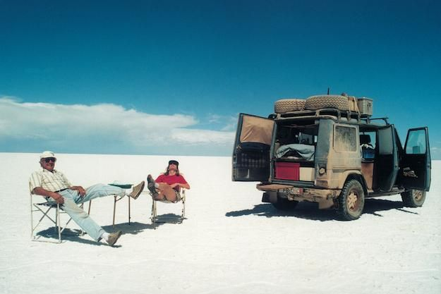 Gunther Holtorf and his wife Christine on a 500,000 mile journey around the world