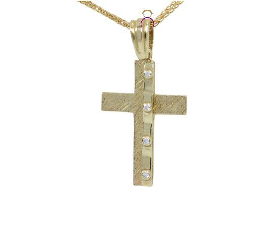 14 carat gold cross for her. Only 75€ at http://www.a-kosmima.gr/vaptisi/stavroi-vaptisis/142012-10-01-03-11-39772212097-detail.html