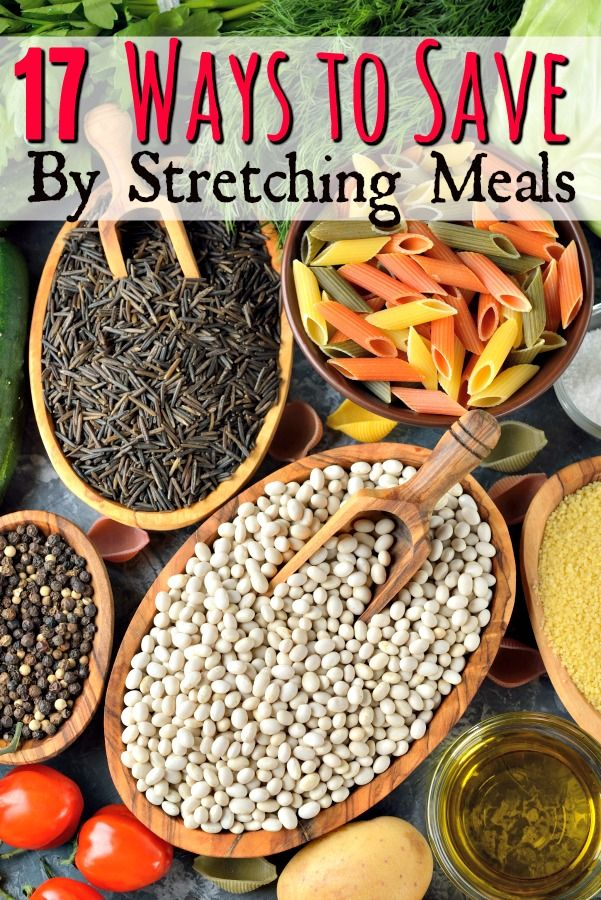 Save Money on Groceries by Stretching Meals - Grocery bill too high? Try this! These 17 ways to make a meal seem larger are sure to help you save money on groceries!