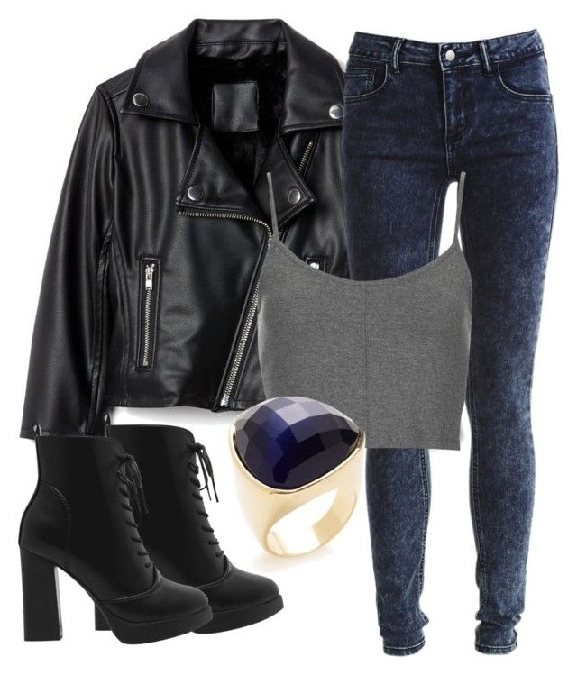 """""""Stefan Inspired Outfit- The Vampire Diaries/ The Originals"""" by fangsandfashion ❤ liked on Polyvore featuring Vila Milano, Topshop and Ava & Aiden"""