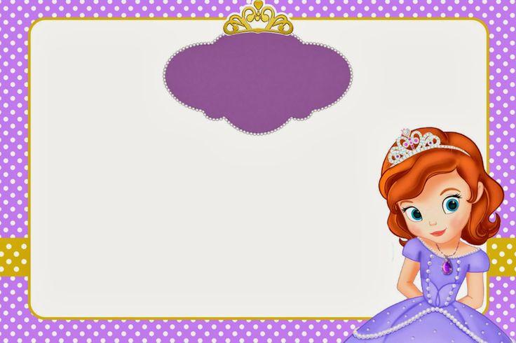Sofia the First: Invitations and Free Party Printables.